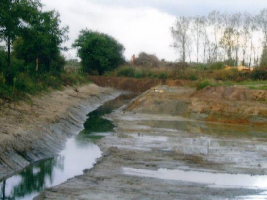 Travaux de création du point d'eau