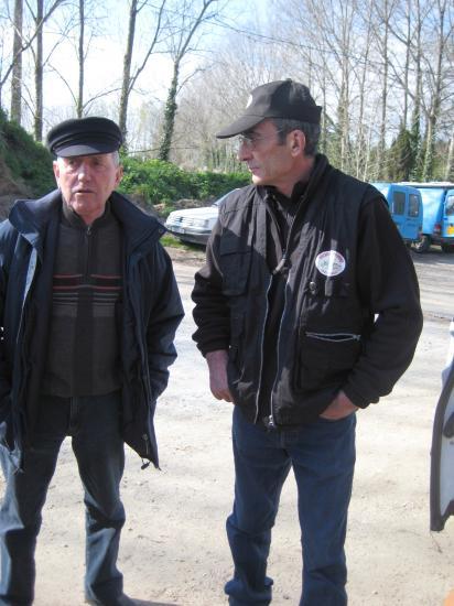 Marcel et Monsieur Hubert Trichet, 1er adjoint au Maire